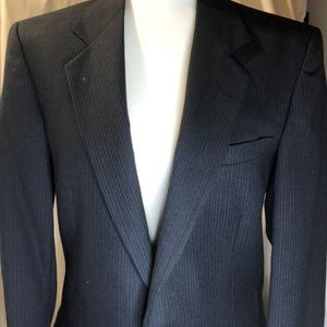 Men's Pierre Cardin Navy Blue Pinstripe Suit